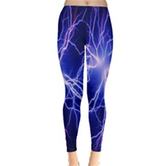 Blue Sky Light Space Leggings  by Mariart