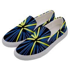 Fireworks Blue Green Black Happy New Year Men s Canvas Slip Ons by Mariart