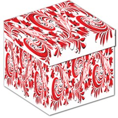 Red Flower Floral Leaf Storage Stool 12   by Mariart