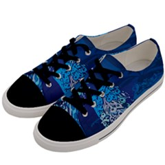 Peacock Bird Blue Animals Men s Low Top Canvas Sneakers by Mariart