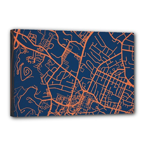 Virginia Map Art City Canvas 18  X 12  by Mariart