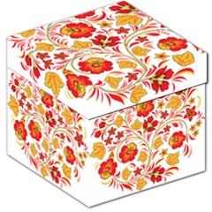 Wreaths Flower Floral Sexy Red Sunflower Star Rose Storage Stool 12   by Mariart