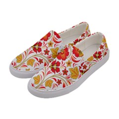 Wreaths Flower Floral Sexy Red Sunflower Star Rose Women s Canvas Slip Ons by Mariart