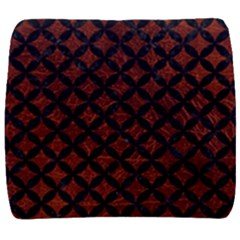 Circles3 Black Marble & Reddish Brown Leather Back Support Cushion by trendistuff