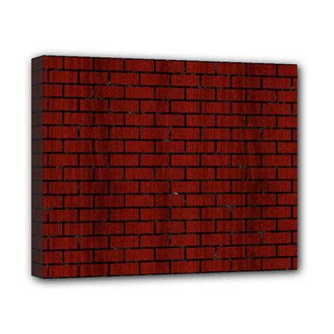 Brick1 Black Marble & Reddish Brown Wood Canvas 10  X 8  by trendistuff