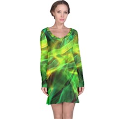 Abstract Shiny Night Lights 1 Long Sleeve Nightdress by tarastyle