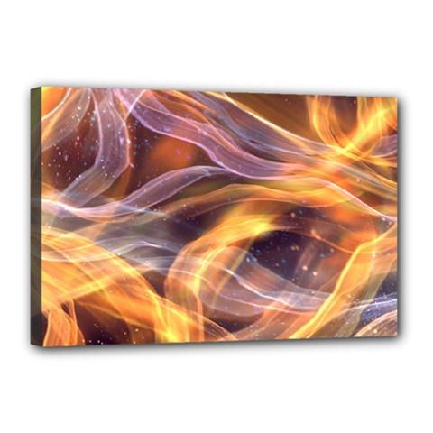 Abstract Shiny Night Lights 6 Canvas 18  X 12  by tarastyle