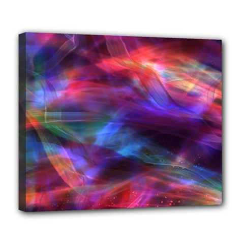 Abstract Shiny Night Lights 7 Deluxe Canvas 24  X 20   by tarastyle
