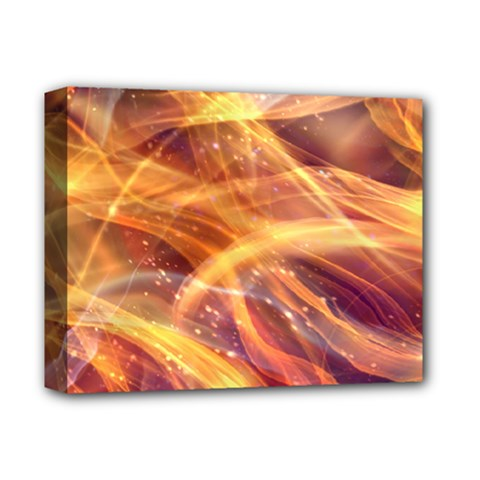 Abstract Shiny Night Lights 10 Deluxe Canvas 14  X 11  by tarastyle