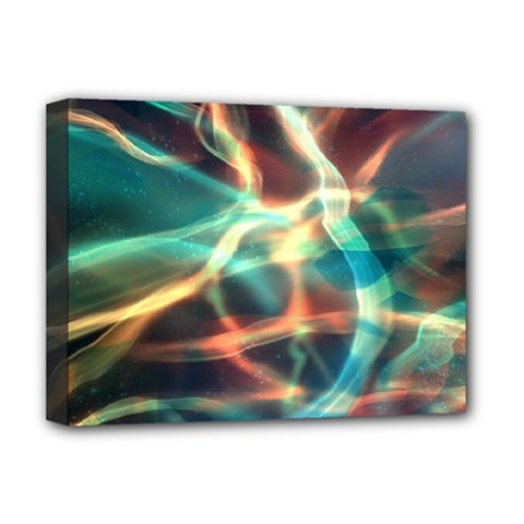 Abstract Shiny Night Lights 11 Deluxe Canvas 16  X 12   by tarastyle