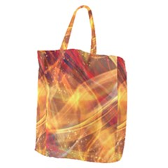 Abstract Shiny Night Lights 13 Giant Grocery Zipper Tote by tarastyle