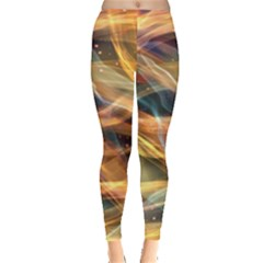 Abstract Shiny Night Lights 15 Leggings  by tarastyle