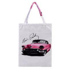Elvis Presley s Pink Cadillac Classic Tote Bag by Valentinaart