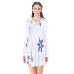 Star Snow Blue Rain Cool Flare Dress by AnjaniArt