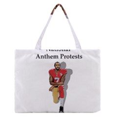 National Anthem Protest Zipper Medium Tote Bag by Valentinaart