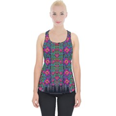 Flowers From Paradise Colors And Star Rain Piece Up Tank Top by pepitasart