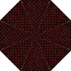 Scales3 Black Marble & Reddish Brown Wood (r) Golf Umbrellas by trendistuff
