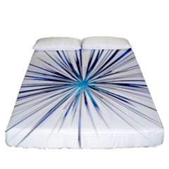Fireworks Light Blue Space Happy New Year Fitted Sheet (king Size) by AnjaniArt