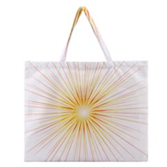 Fireworks Light Yellow Space Happy New Year Red Zipper Large Tote Bag by AnjaniArt