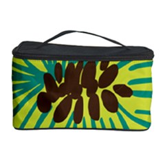 Flower Floral Green Cosmetic Storage Case by AnjaniArt