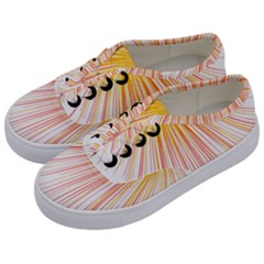 Fireworks Yellow Light Kids  Classic Low Top Sneakers by AnjaniArt