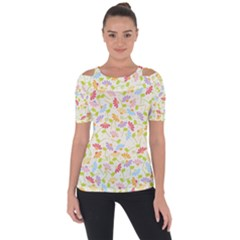 Flower Rainbow Sexy Leaf Plaid Vertical Horizon Short Sleeve Top by AnjaniArt