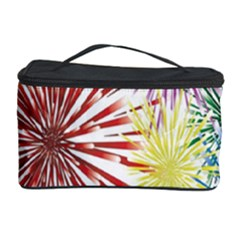Happy New Year City Semmes Fireworks Rainbow Red Blue Yellow Purple Sky Cosmetic Storage Case by AnjaniArt