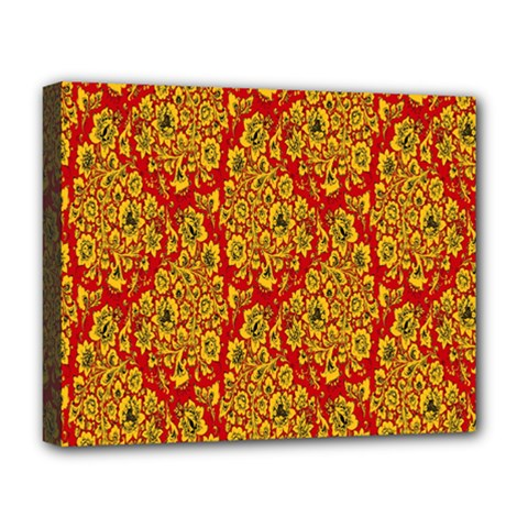 Flower Rose Red Yellow Sexy Deluxe Canvas 20  X 16   by AnjaniArt