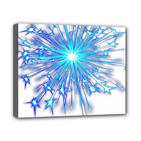 Fireworks Sky Blue Silver Light Star Sexy Canvas 10  X 8  by AnjaniArt