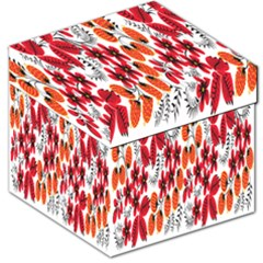 Rose Flower Red Orange Storage Stool 12   by AnjaniArt