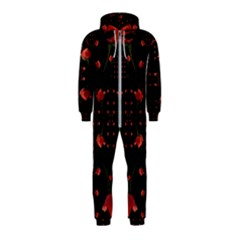 Roses From The Fantasy Garden Hooded Jumpsuit (kids) by pepitasart
