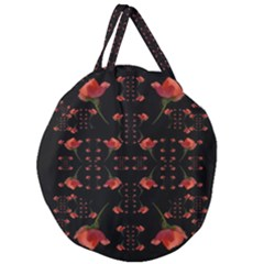 Roses From The Fantasy Garden Giant Round Zipper Tote by pepitasart