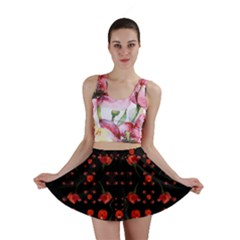 Pumkins And Roses From The Fantasy Garden Mini Skirt by pepitasart