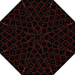 Tile1 Black Marble & Reddish Brown Wood (r) Folding Umbrellas by trendistuff