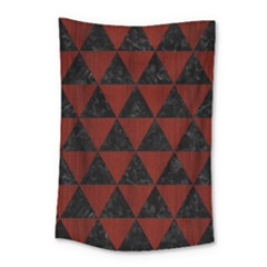 Triangle3 Black Marble & Reddish Brown Wood Small Tapestry by trendistuff