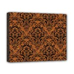 DAMASK1 BLACK MARBLE & RUSTED METAL Canvas 10  x 8