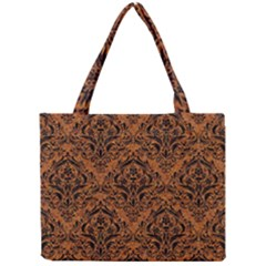 Damask1 Black Marble & Rusted Metal Mini Tote Bag by trendistuff