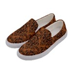 DAMASK1 BLACK MARBLE & RUSTED METAL Women s Canvas Slip Ons