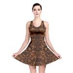 DAMASK2 BLACK MARBLE & RUSTED METAL Reversible Skater Dress