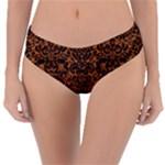 DAMASK2 BLACK MARBLE & RUSTED METAL Reversible Classic Bikini Bottoms
