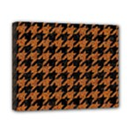 HOUNDSTOOTH1 BLACK MARBLE & RUSTED METAL Canvas 10  x 8