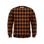 HOUNDSTOOTH1 BLACK MARBLE & RUSTED METAL Kids  Sweatshirt