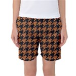 HOUNDSTOOTH1 BLACK MARBLE & RUSTED METAL Women s Basketball Shorts