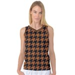 HOUNDSTOOTH1 BLACK MARBLE & RUSTED METAL Women s Basketball Tank Top