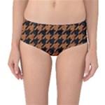 HOUNDSTOOTH1 BLACK MARBLE & RUSTED METAL Mid-Waist Bikini Bottoms
