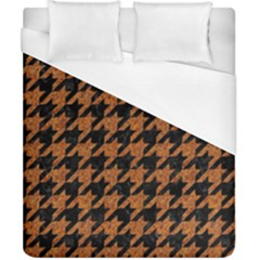 Houndstooth1 Black Marble & Rusted Metal Duvet Cover (california King Size) by trendistuff