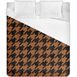 HOUNDSTOOTH1 BLACK MARBLE & RUSTED METAL Duvet Cover (California King Size)