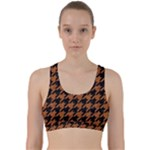 HOUNDSTOOTH1 BLACK MARBLE & RUSTED METAL Back Weave Sports Bra