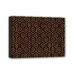 HEXAGON1 BLACK MARBLE & RUSTED METAL (R) Mini Canvas 7  x 5