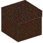HEXAGON1 BLACK MARBLE & RUSTED METAL (R) Storage Stool 12